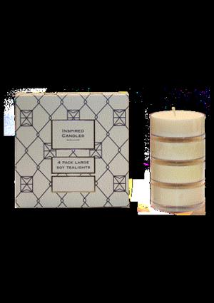 Four pack maxi tealights -  Butterscotch