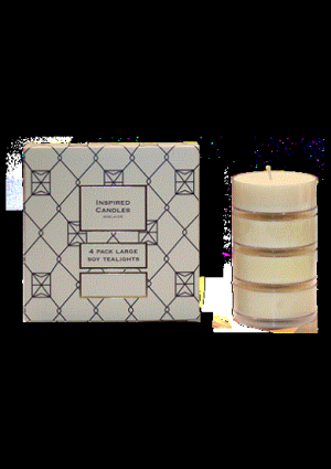 Four pack maxi tealights -  Lemongrass